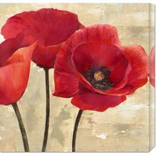 Cynthia Ann 'Red Poppies (detail)' Stretched Canvas