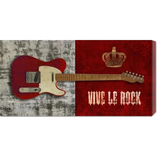 Steven Hill 'Vive le Rock' Stretched Canvas