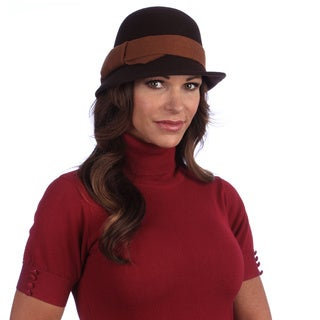 Swan Hat Women's Brown/ Rust Wool Felt Hat