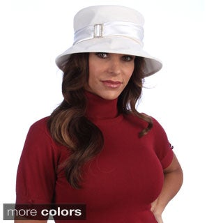 Swan Women's Velvet Satin Band Packable Hat