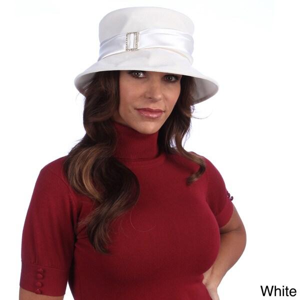 Swan Women's Velvet Satin Band Packable Hat