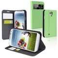 BasAcc Green Leather Case with Stand for Samsung Galaxy S IV / S4
