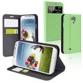 BasAcc Green Leather Case with Stand for Samsung� Galaxy S IV / S4