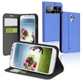 BasAcc Light Blue Leather Case with Stand for Samsung Galaxy S IV
