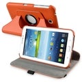 BasAcc Orange Swivel Leather Case for Samsung Galaxy Tab 3 7.0