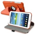 INSTEN Orange Swivel Leather Tablet Case Cover for Samsung Galaxy Tab 3 7.0