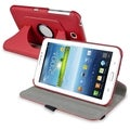BasAcc Red Swivel Leather Case for Samsung� Galaxy Tab 3 7.0