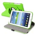 BasAcc Green Swivel Leather Case for Samsung� Galaxy Tab 3 7.0
