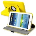 BasAcc Yellow Swivel Leather Case for Samsung� Galaxy Tab 3 7.0
