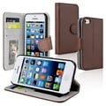BasAcc Brown Wallet Leather Case with Stand for Apple� iPhone 5C
