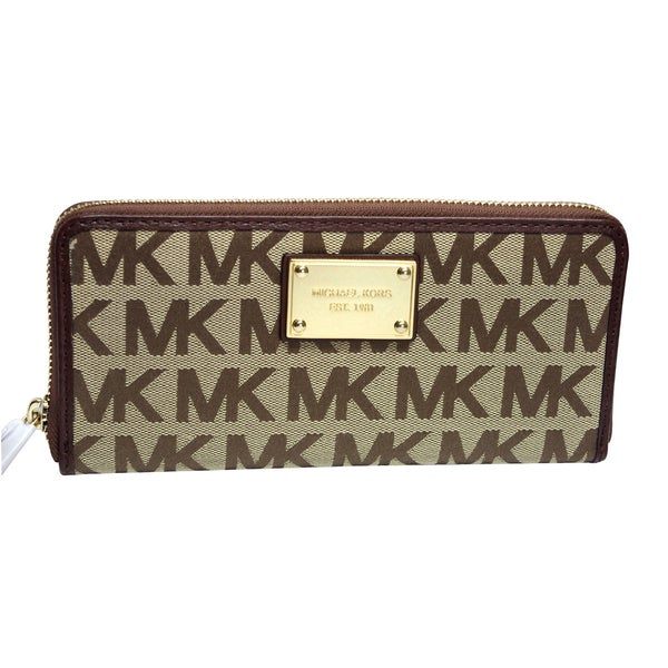 MICHAEL Michael Kors Logo Zip Continental Wallet