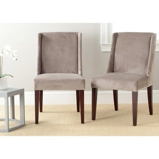 Safavieh Humphry Mushroom Taupe Dining Chair (Set of 2)