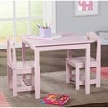 Pink 3-piece Hayden Kids Table/ Chair Set