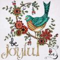 Heartfelt Be Joyful Counted Cross Stitch Kit - 10 X10 14 Count