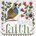 Heartfelt Have Faith Counted Cross Stitch Kit - 10 X10 14 Count