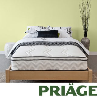 Priage Hybrid 11-inch Euro Box Top Twin-size Memory Foam and iCoil Mattress