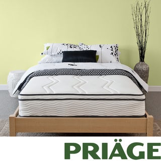 Priage Hybrid 11-inch Euro Box Top Full-size Memory Foam and iCoil Mattress