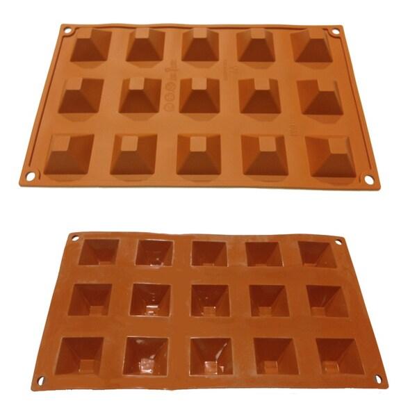 Universal 15-cavity Mini Pyramids Silicone Mold Baking Pans