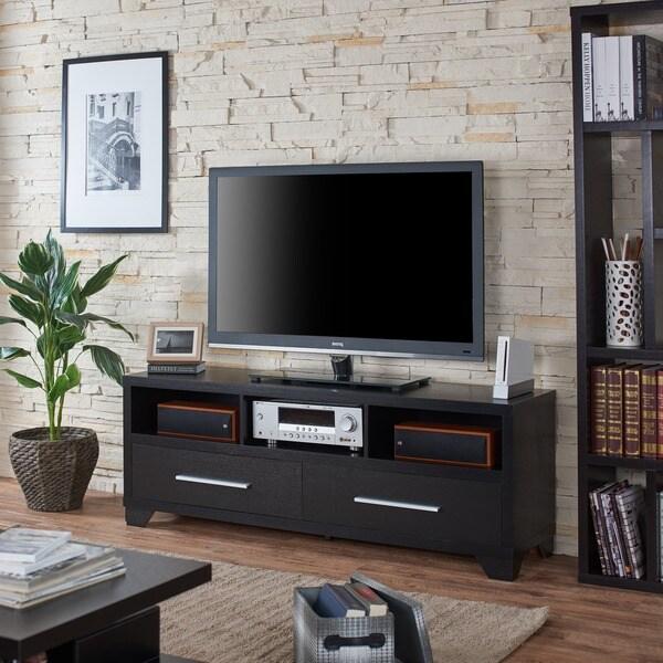Furniture of America Drewslee Modern Multi-storage Black Media Console