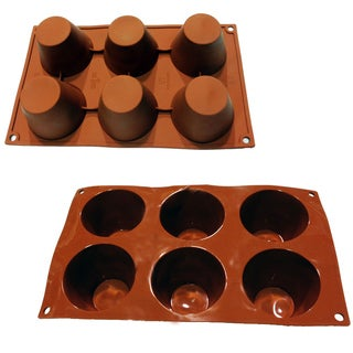 Universal 6-cavity Muffin Pudding Tart Silicone Mold Baking Pans