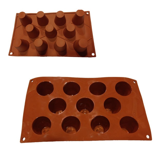 Universal 11-cavity Pudding Tart Silicone Mold Baking Pans