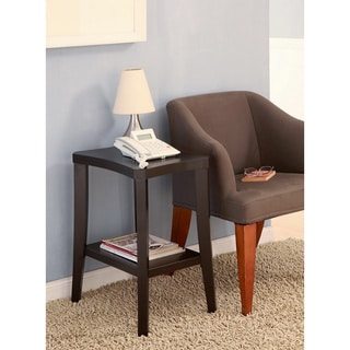 Furniture of America Wendalyn Contemporary Cappuccino Chairside Table