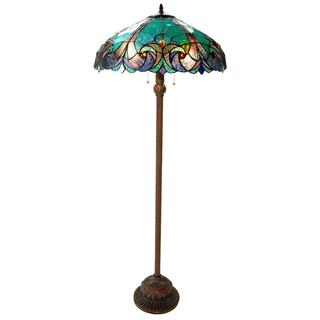 Halston Tiffany-style Victorian 2-light Floor Lamp | Overstock.com