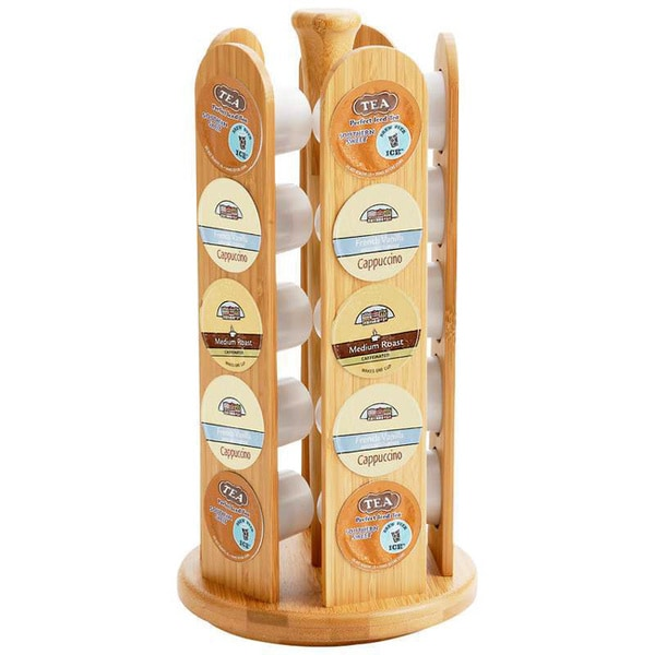 HealthSmart Rotating Bamboo 25-cup Rack
