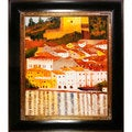 Gustav Klimt 'Malcesine on Lake Garda' Hand Painted Framed Canvas Art