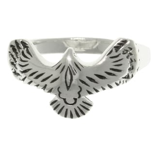 CGC Sterling Silver American Eagle in Flight Ring