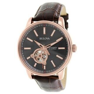 Bulova Men's Series 160 Automatic Black Dial Watch