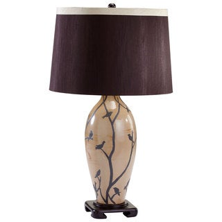 Cyan Design 'Beijing' Tan Bird and Branch Ceramic Table Lamp