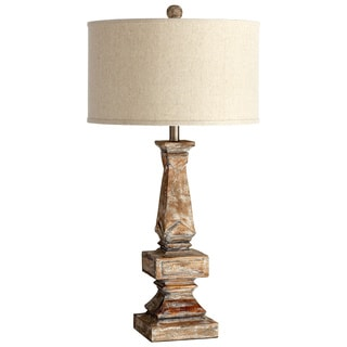 Cyan Design 'Tashi' Aged White Wood Traditional Table Lamp