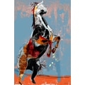 Maxwell Dickson 'Fighting Horse' Modern Canvas Wall Art