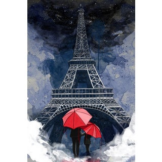 Maxwell Dickson 'Rainy Night in Paris' Modern Canvas Wall Art