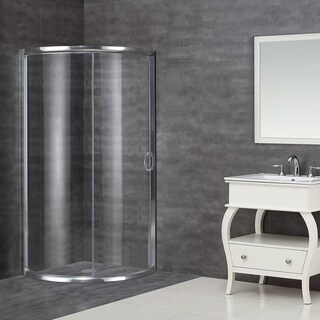 Aston 36 x 36-inch Clear Glass Neo-Round Clear Glass Shower Enclosure