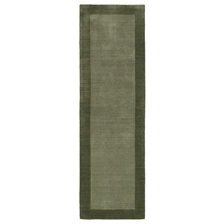 Borders Hand-Tufted Fern Wool Rug (2'6 x 8'9)