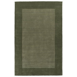Borders Hand-Tufted Fern Wool Rug (8'0 x 10'0)