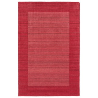 Borders Hand-Tufted Watermelon Wool Rug (8'0 x 10'0)