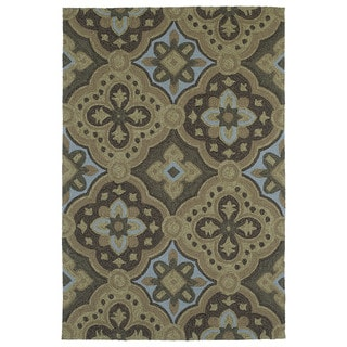 Seaside Chocolate Panel Indoor/Outdoor Rug (5'0 x 7'6)