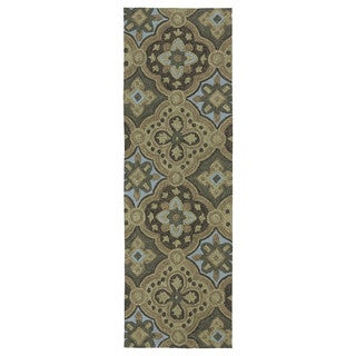 Seaside Chocolate Panel Indoor/Outdoor Rug (2'6 x 8'0)