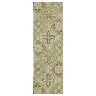 Seaside Green Panel Indoor/Outdoor Rug (2'6 x 8'0)