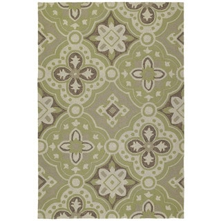Seaside Green Panel Indoor/Outdoor Rug (9'0 x 12'0)