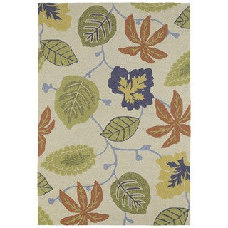 Seaside Whimsical Sand Indoor/Outdoor Rug (5'0 x 7'6)