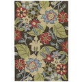 Seaside Chocolate Garden Indoor/Outdoor Rug (10'0 x 14'0)