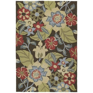 Seaside Chocolate Garden Indoor/Outdoor Rug (4'0 x 6'0)