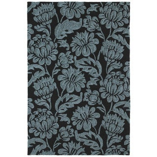 Seaside Black Garden Indoor/Outdoor Rug (10'0 x 14'0)