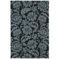 Seaside Black Garden Indoor/Outdoor Rug (4'0 x 6'0)