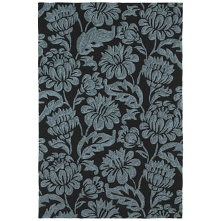 Seaside Black Garden Indoor/ Outdoor Rug (8' x 10')