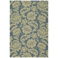 Seaside Blue Garden Indoor/ Outdoor Rug (4' x 6')